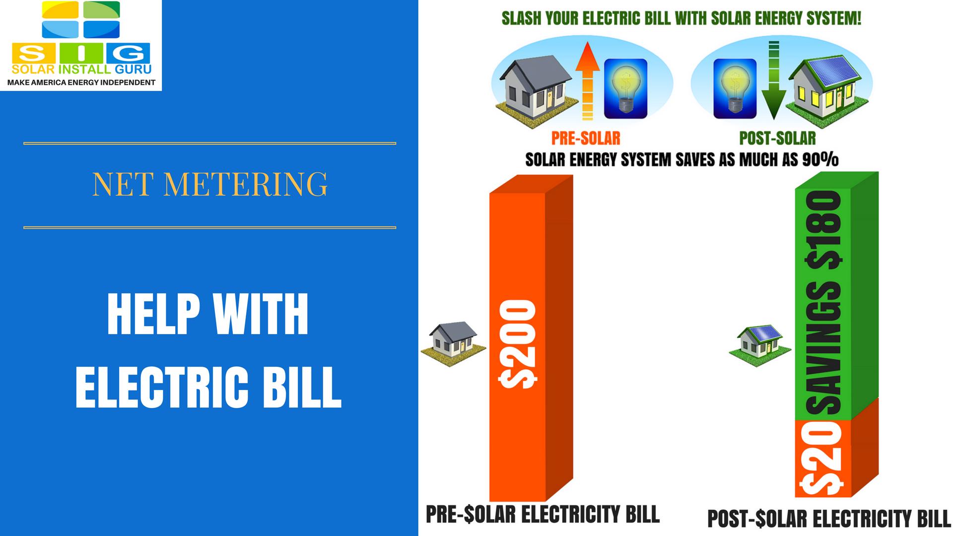help with electric bill and net metering - solarinstallguru